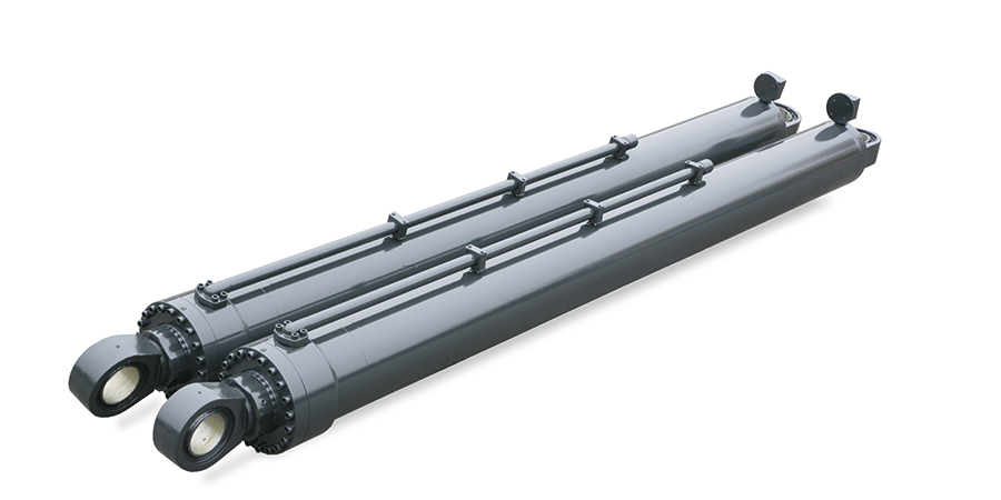 Double acting hydraulic cylinders with strokes up to 12 m